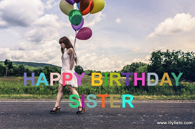 Happy Birthday Sister Balloon image
