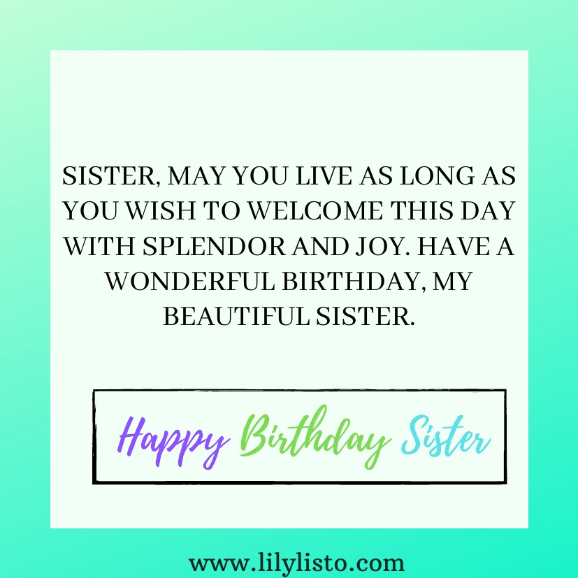 images for sister bday wishes