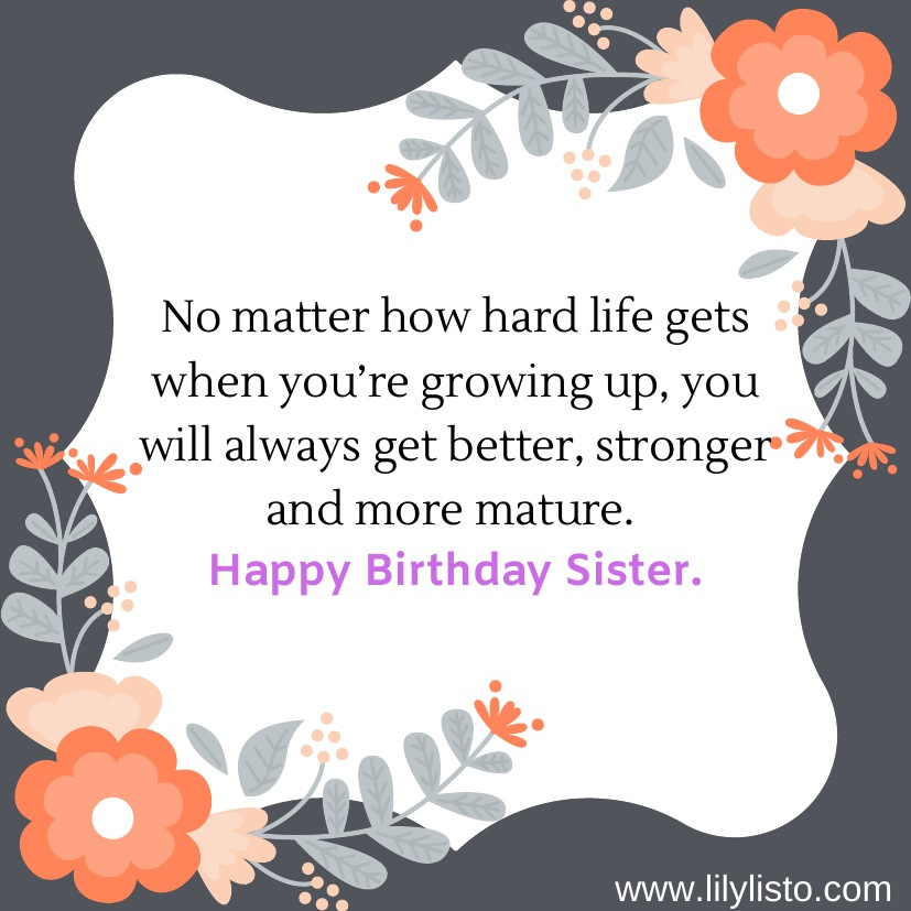 Multiple And Best Inspirational Birthday Messages For Sister
