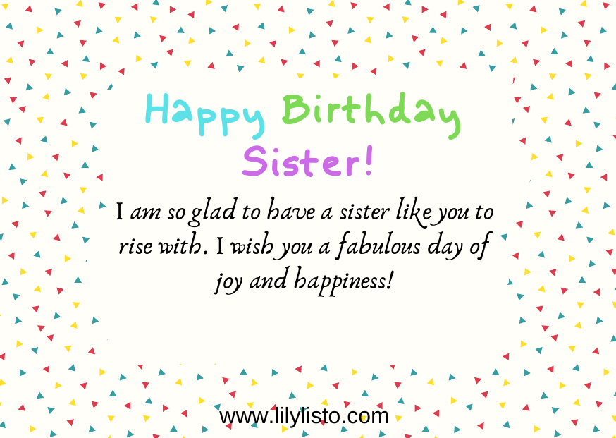 Stupendous Best Happy Birthday Sister Quotes Quotes For Sister Birthday Personalised Birthday Cards Paralily Jamesorg