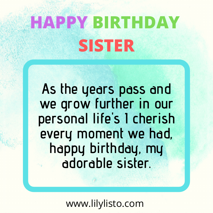 Religious messages for sister birthday