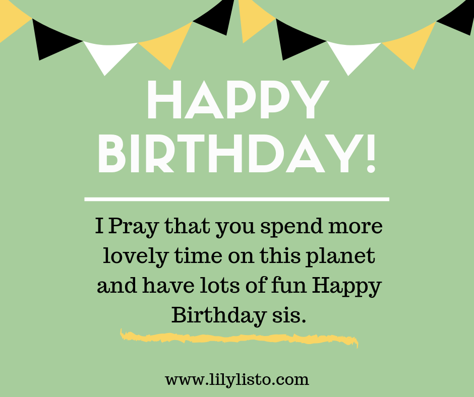 Prayer and Blessings for sister birthday