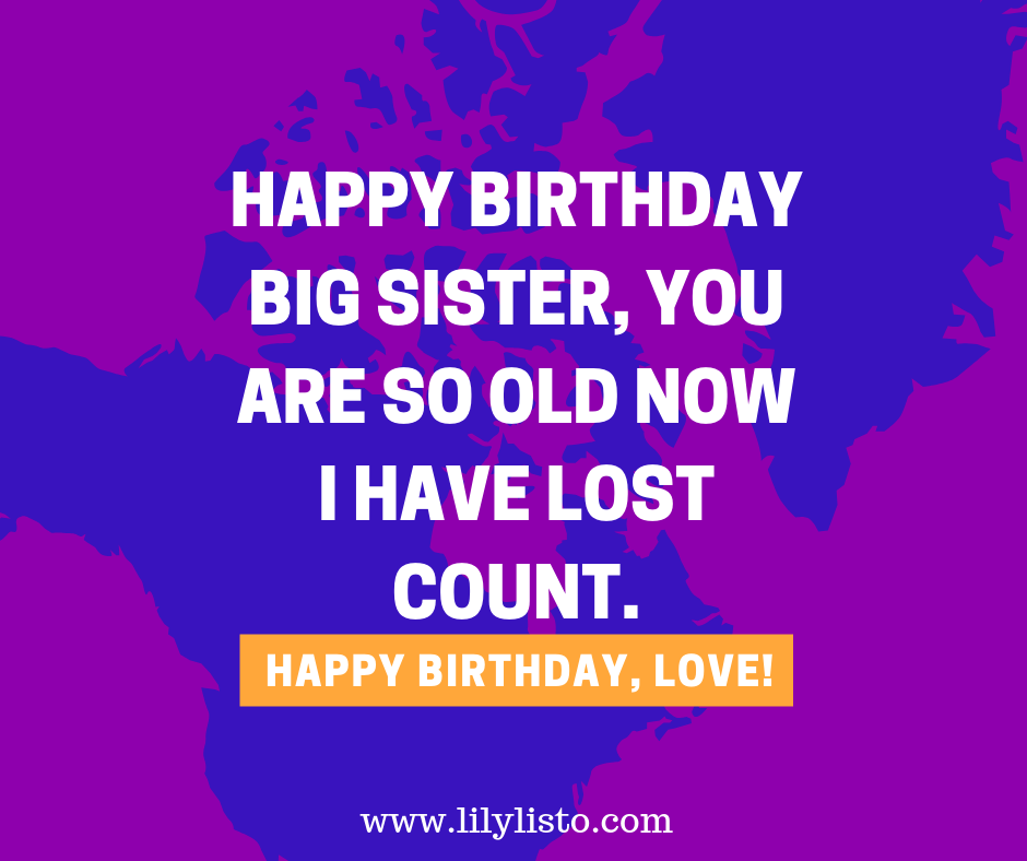 funny wishes for big sister