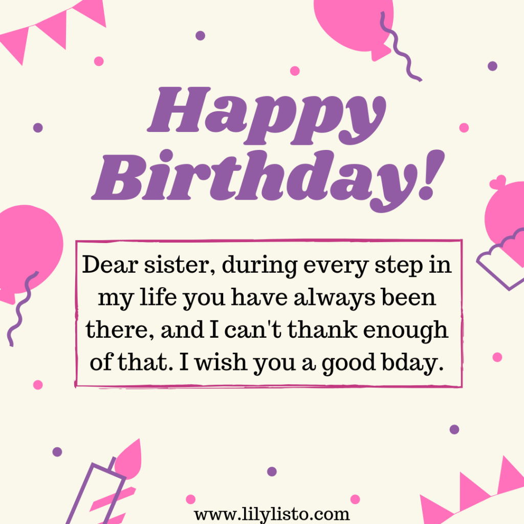 cute birthday images for sis