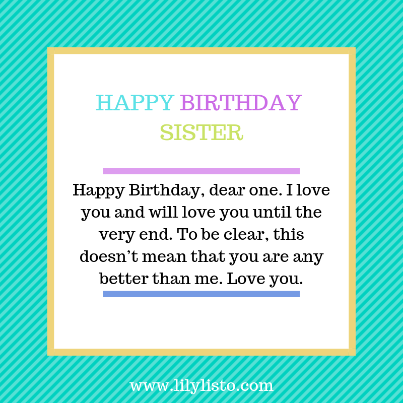Funny Birthday Wishes For Younger Sister Little Sister
