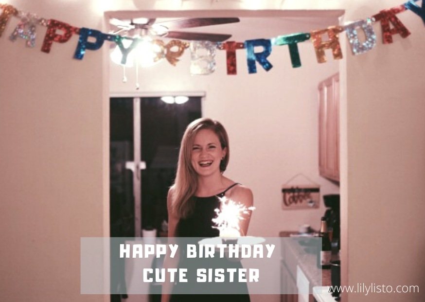cute birthday image for sis