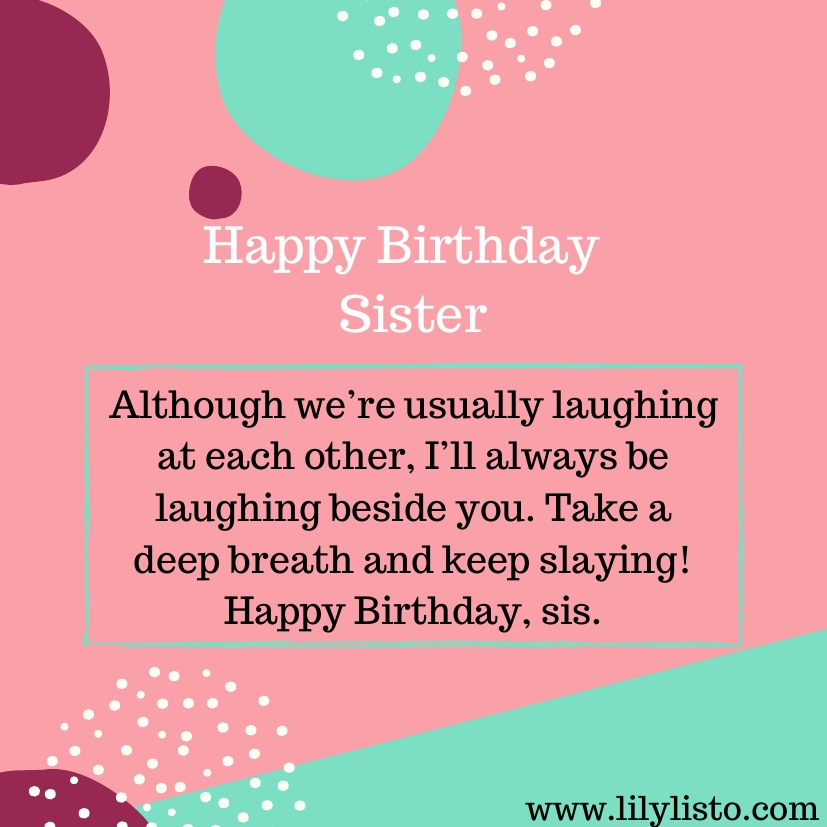 Marvelous Funny Birthday Wishes For Younger Sister Little Sister Birthday Personalised Birthday Cards Paralily Jamesorg