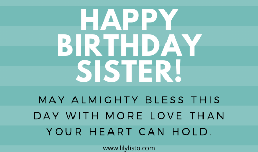 Religious birthday banner for sister facebook post