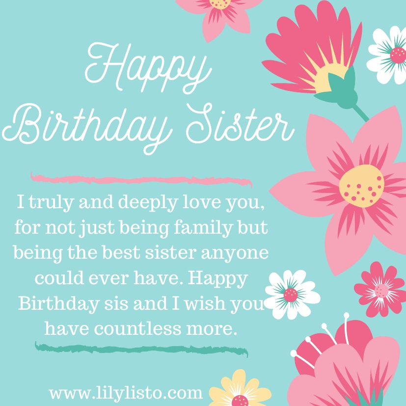 best hd image for sister birthday