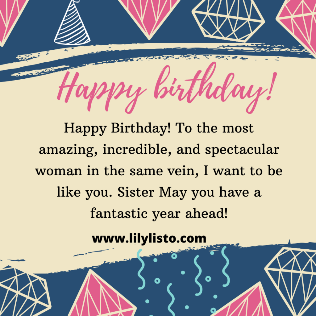 Emotional Birthday wishes to lovely sister
