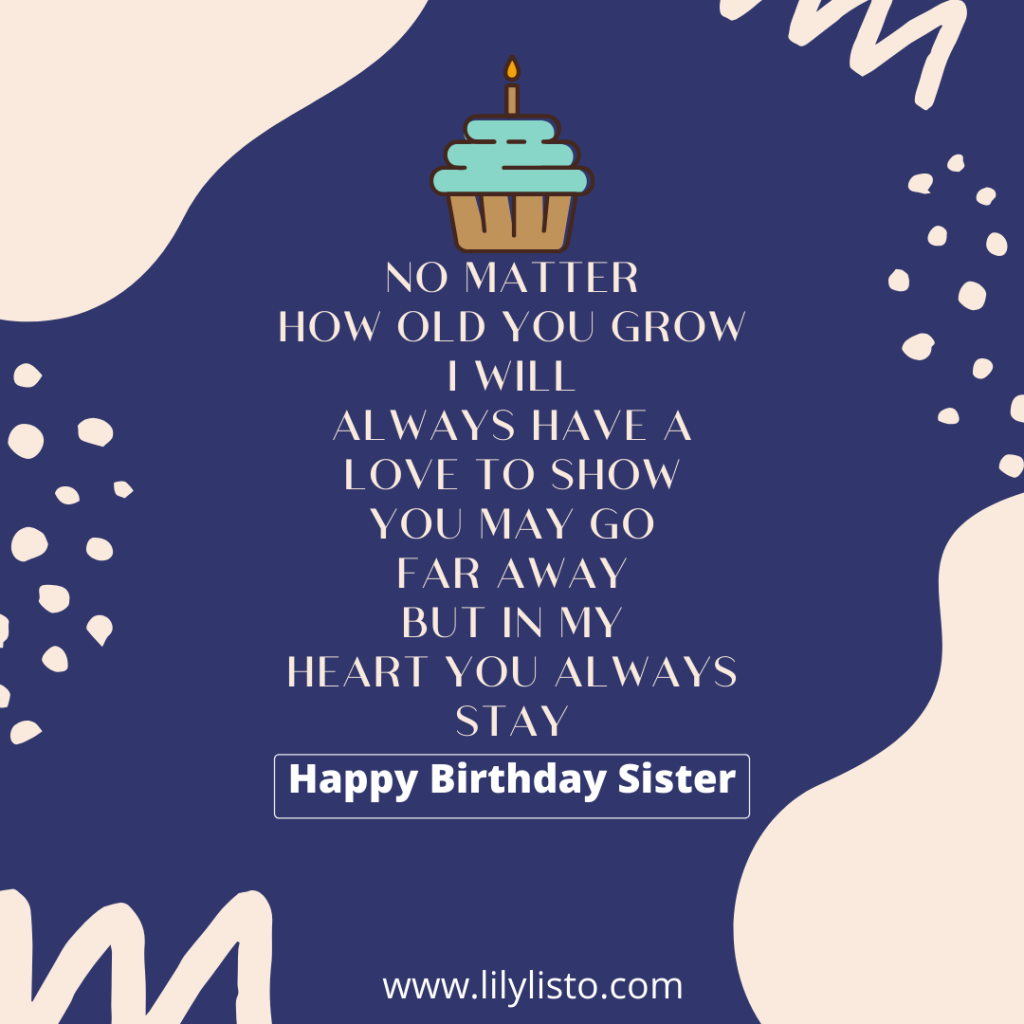 Awe Inspiring Birthday Poems For Sister Happy Birthday Sister Poems Personalised Birthday Cards Veneteletsinfo