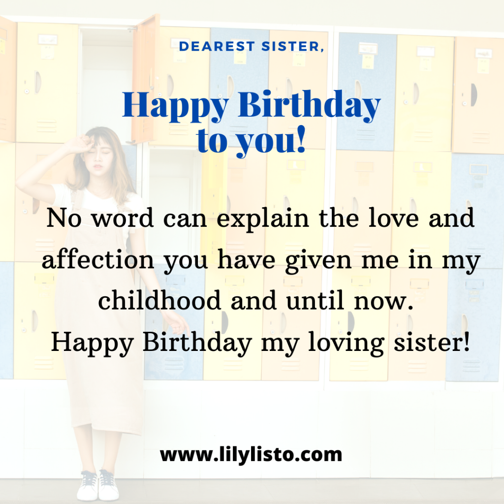 Happy Birthday Emotional image for sister