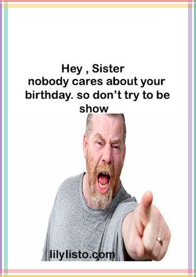furious meme for sister birthday