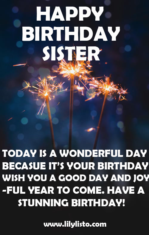 happy birthday sis image