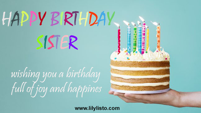 amazing birthday image for sister