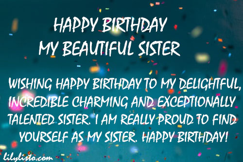 best birthday image for sister