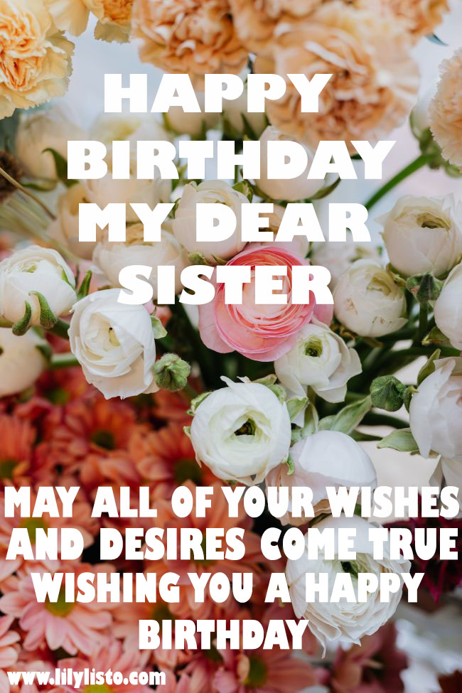 beautiful flower image for sister birthday