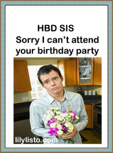 apologies birthday meme for sister