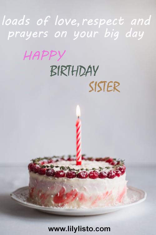 beautiful birthday cake wishes for sister