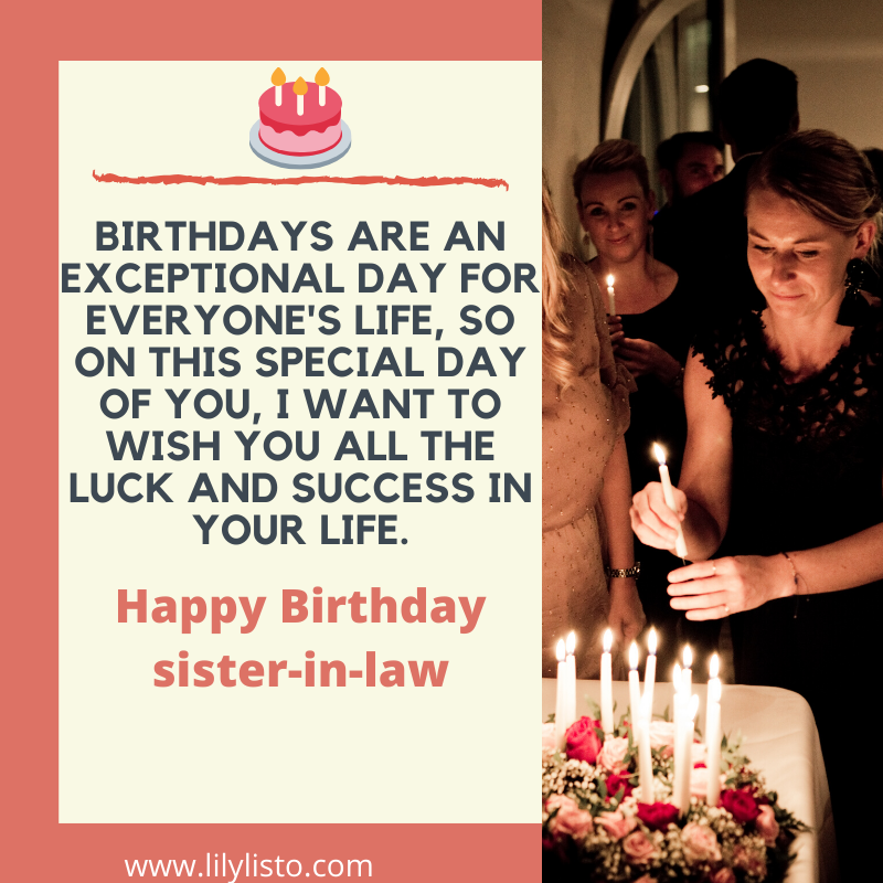 cake wishes for sister-in-law birthday