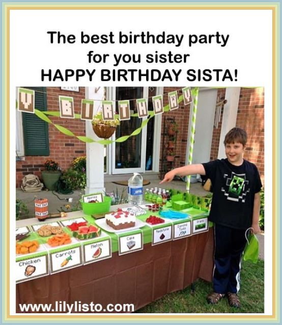 cute and best meme for sister birthday