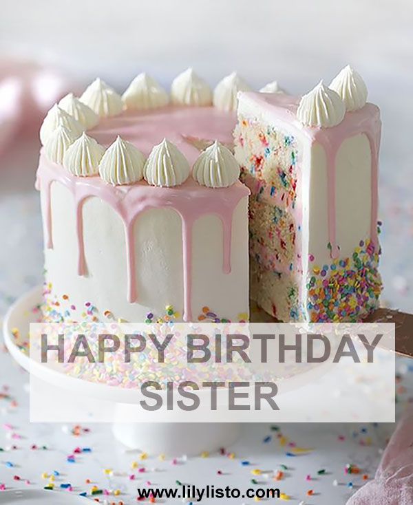 happy birthday sister cake for beautiful sister