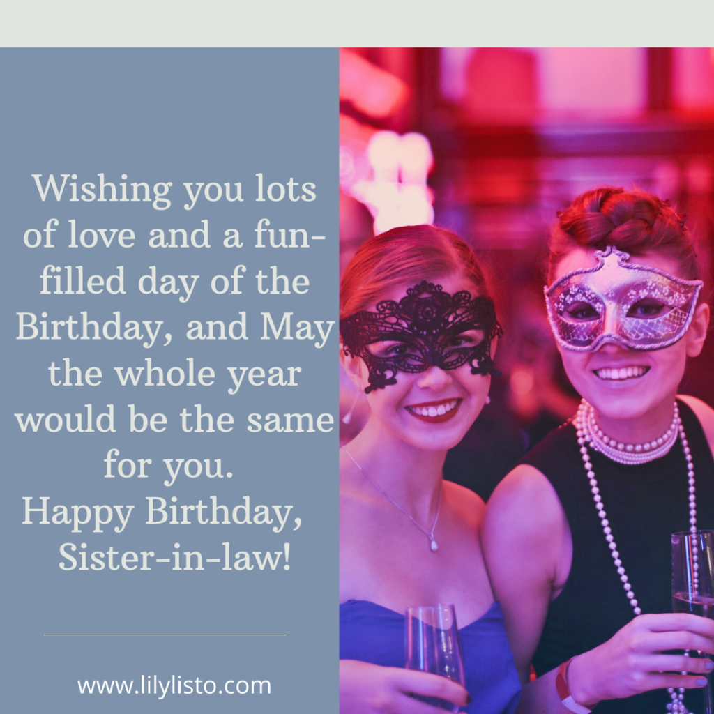happy birthday sister in law for facebook