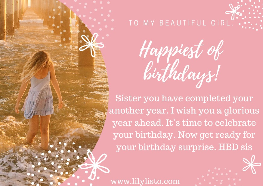 hd birthday wishes for sister