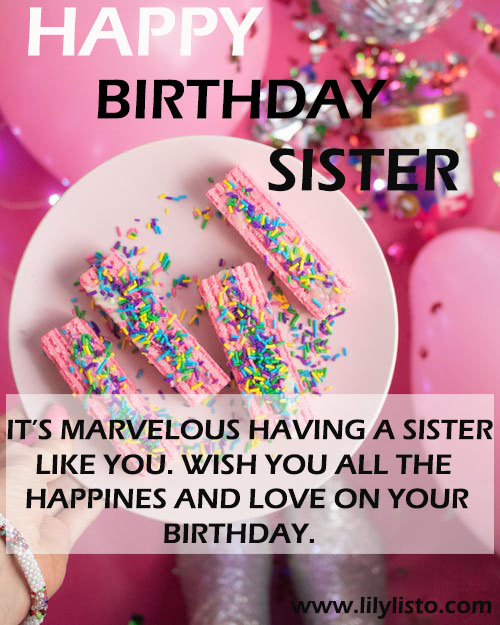 happy birthday sister pics