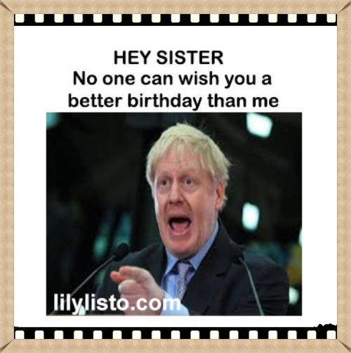 free memes for sister birthday