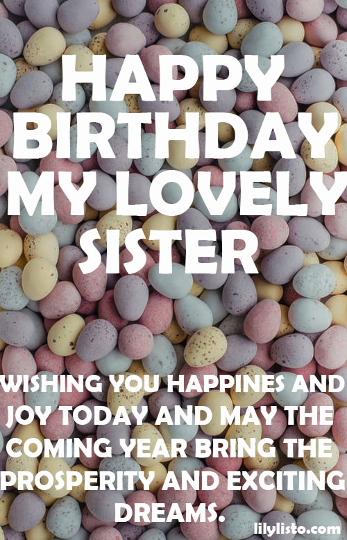 happy birthday lovely sister image
