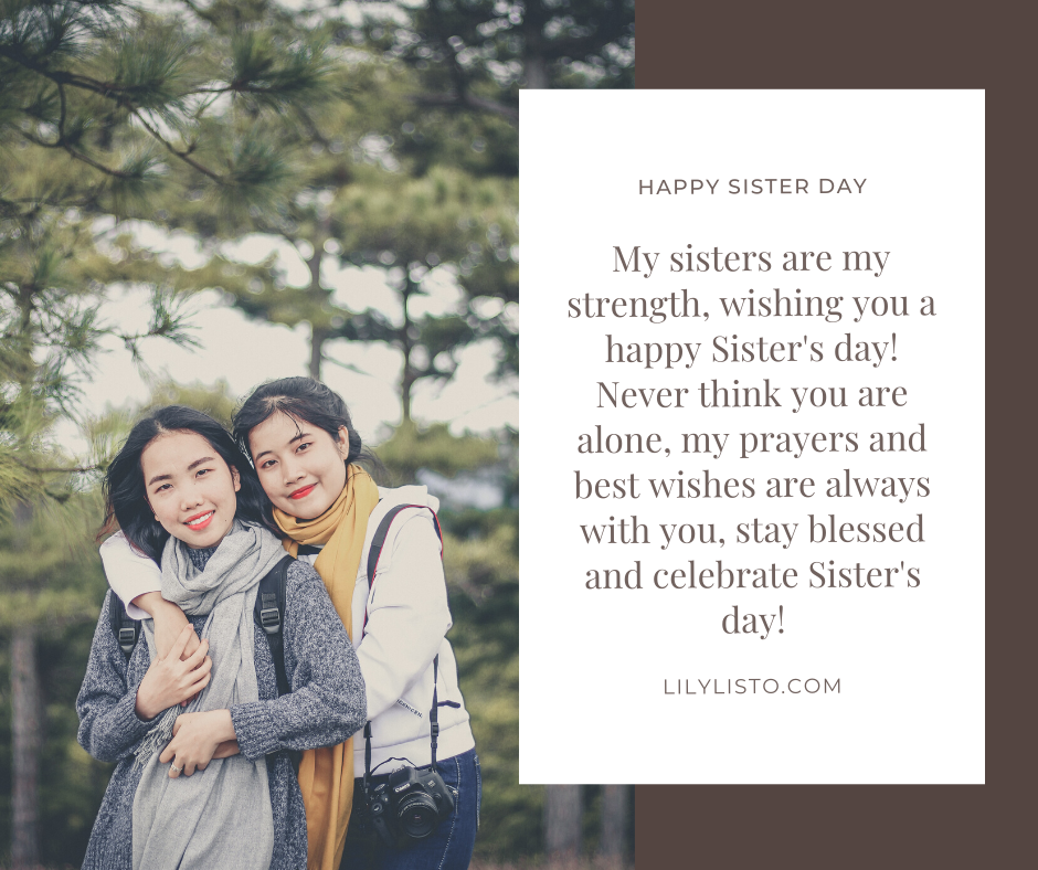 wishes image for sister day status