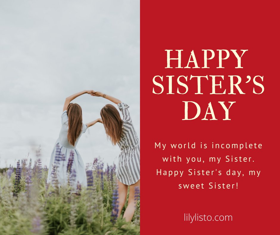 Sister's Day whatsapp status