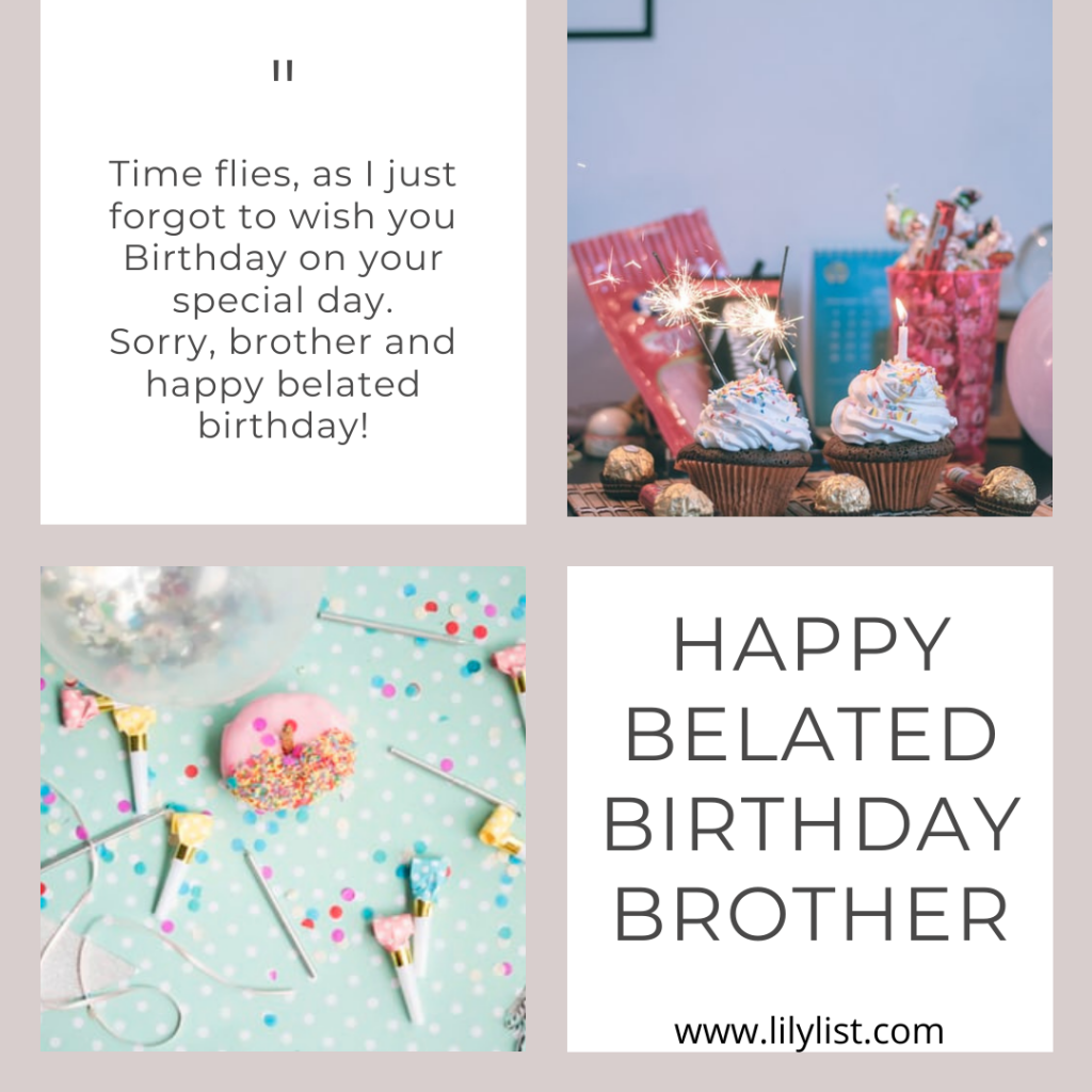 happy belated birthday brother images