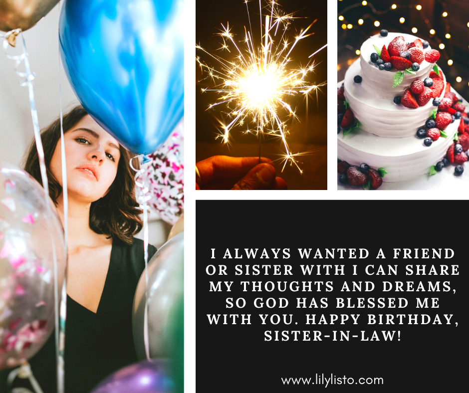 inspirational birthday messages for sister-in-law