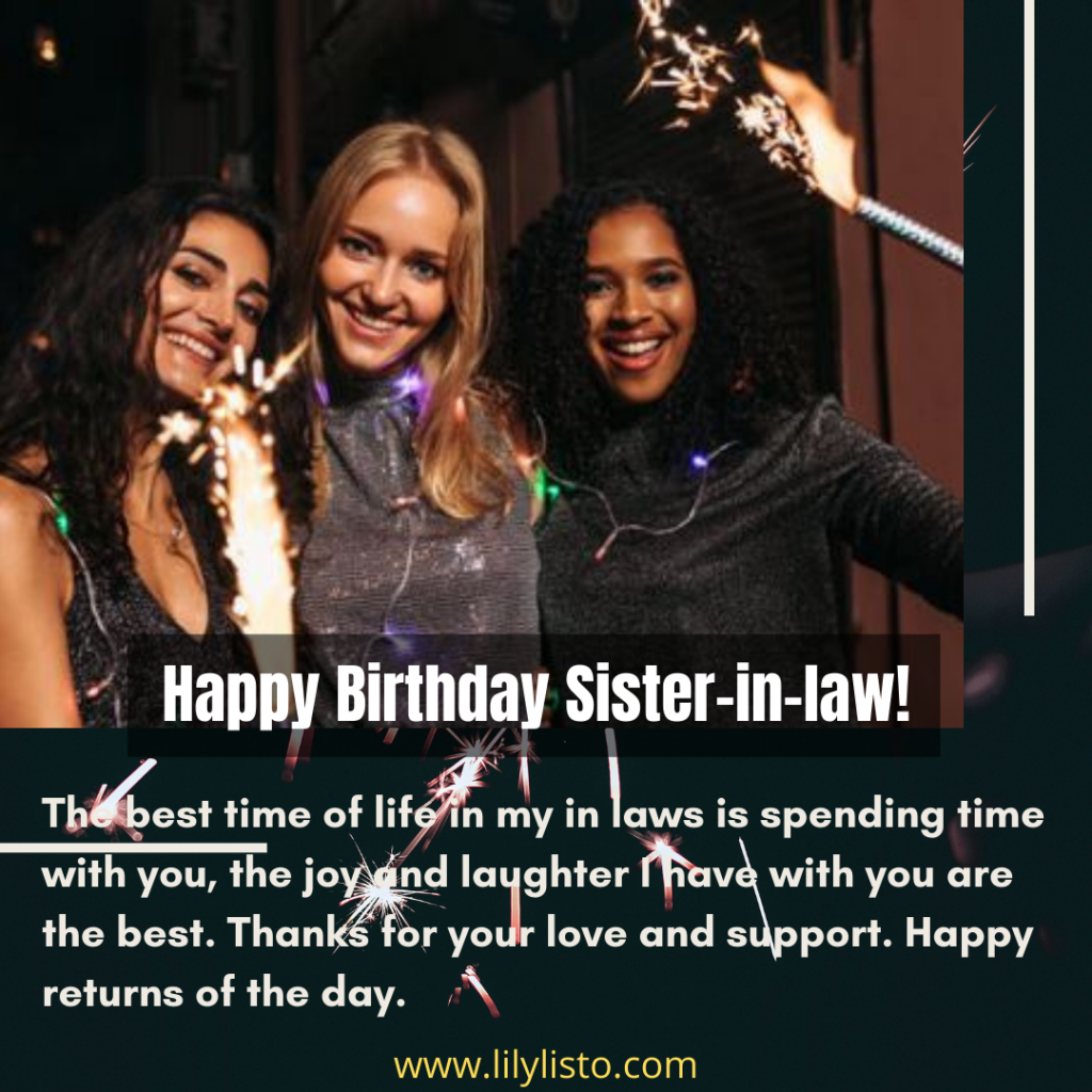 best sister in law birthday quotes