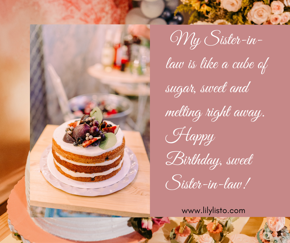 best emotional words for sister in law birthday