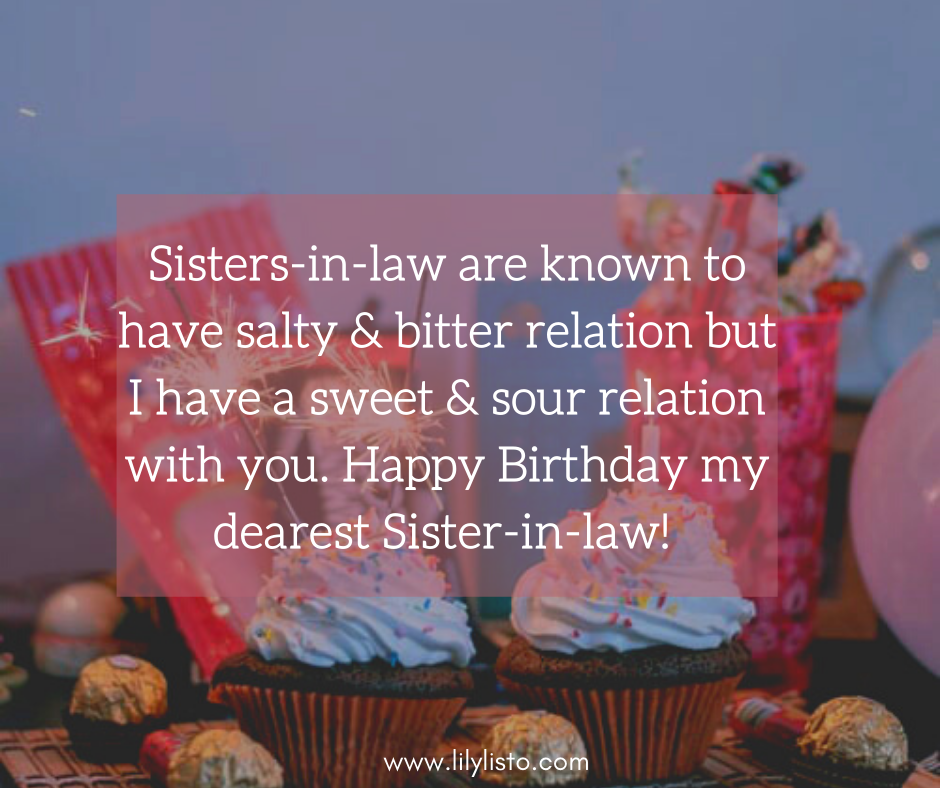 inspirational wishes for sister in law birthday images