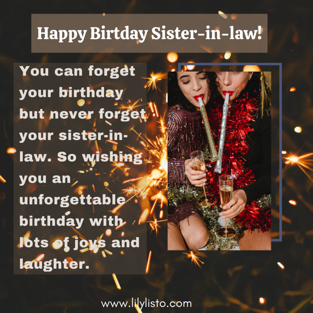 best quotes for sister in law birthday