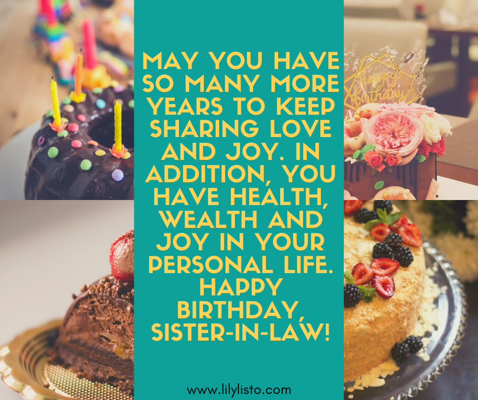 inspirational birthday quotes for sister in law