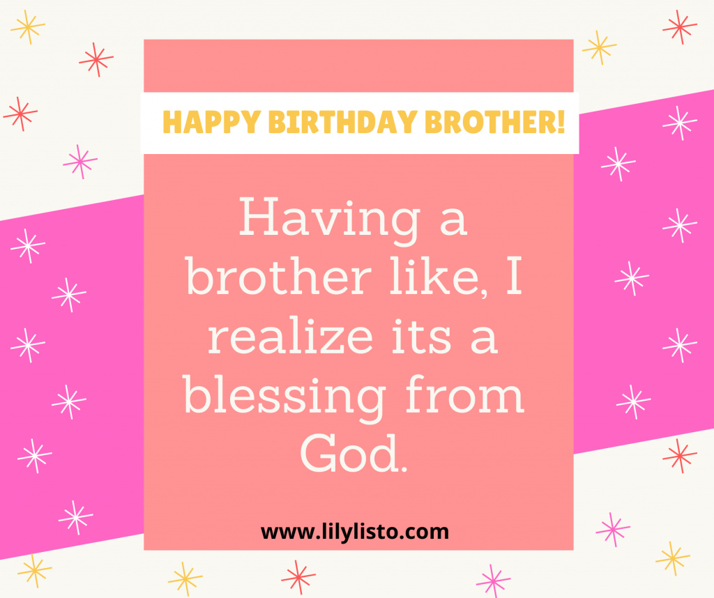 Pinterest caption for brother bday