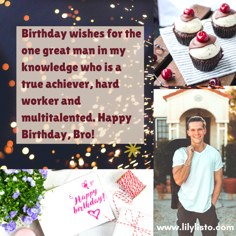 best birthday motivational wishes for brother