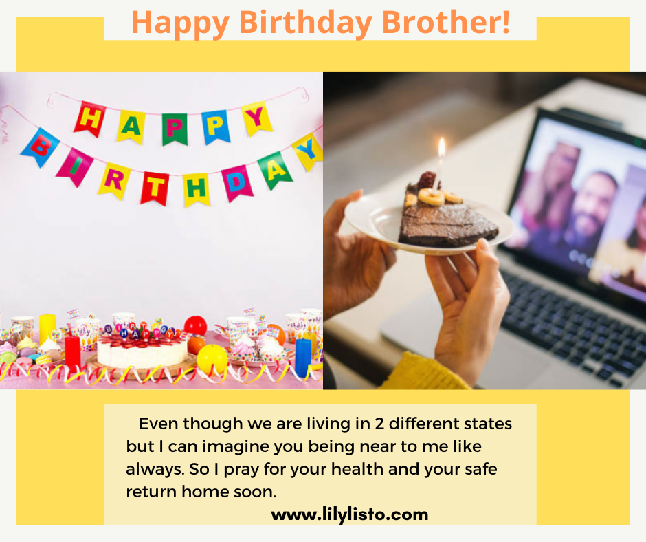 best birthday wishes for long distance brother