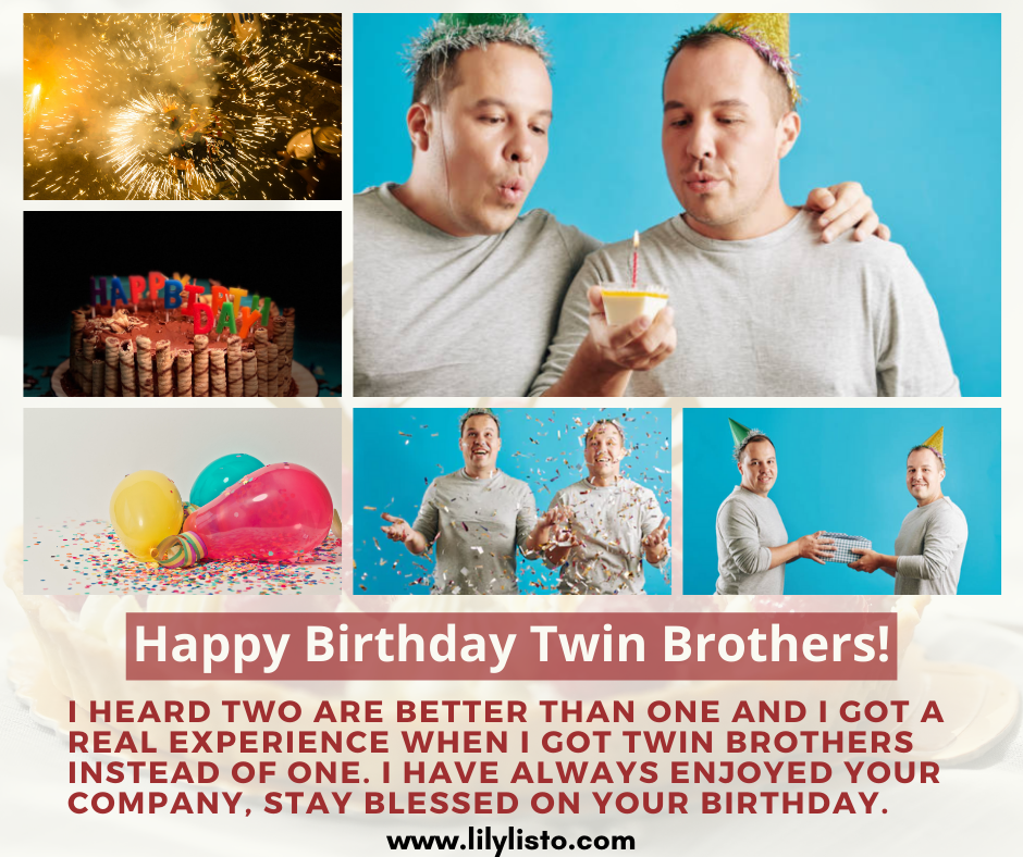 best birthday wishes for twin brother