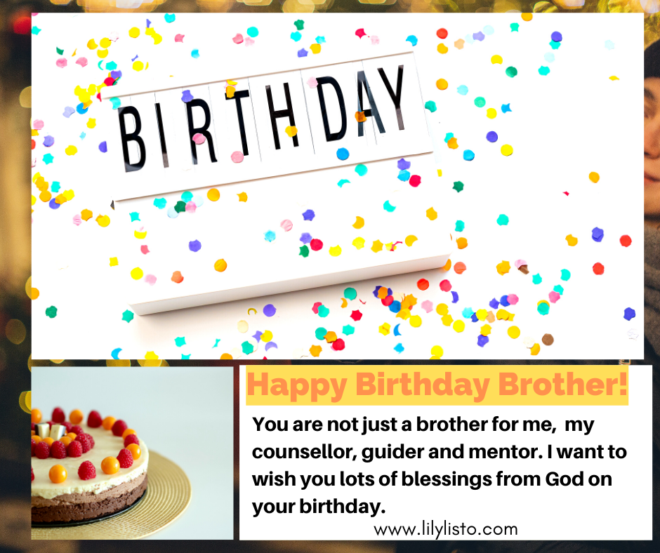 best birthday wishes to brother from sister