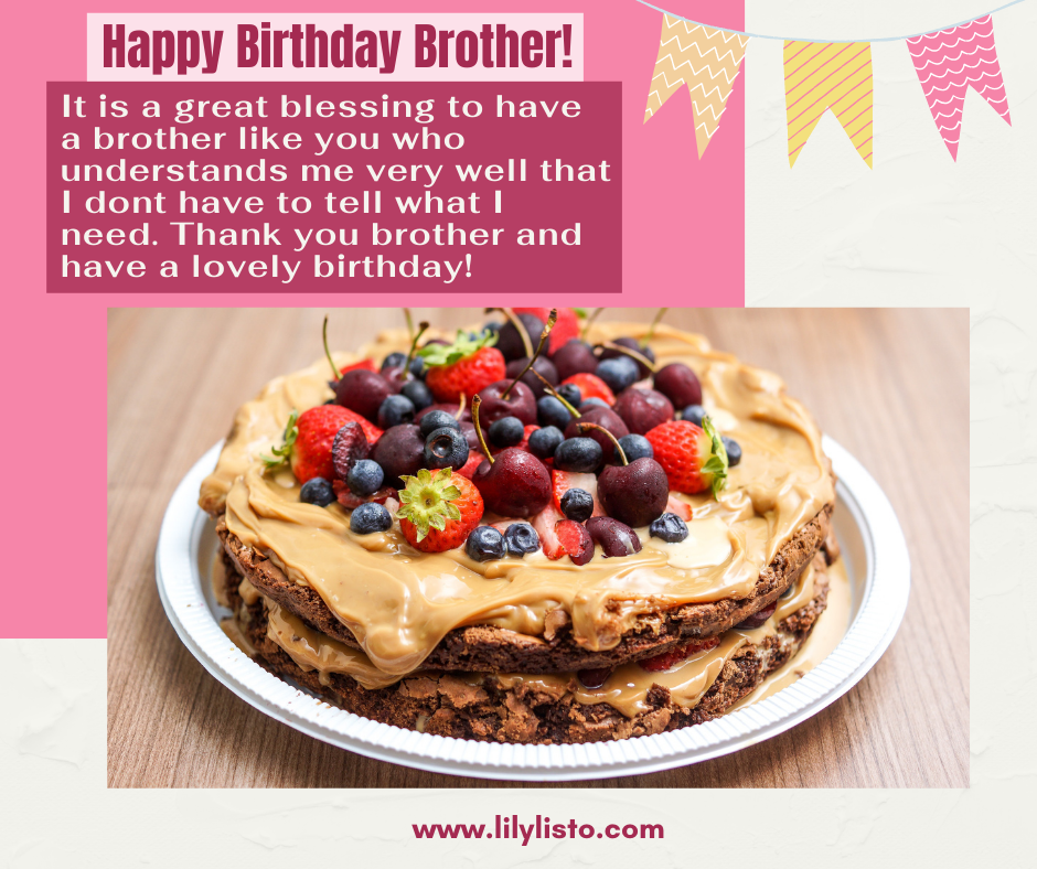 best line for birthday wishes for brother