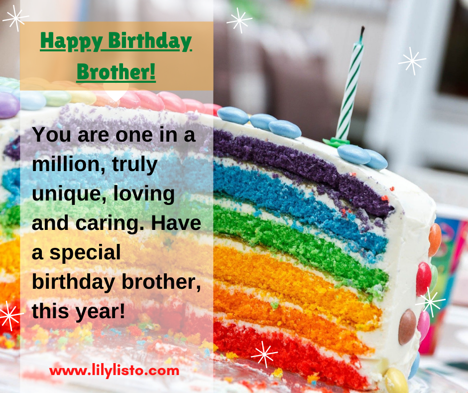 birthday cake quotes for brother