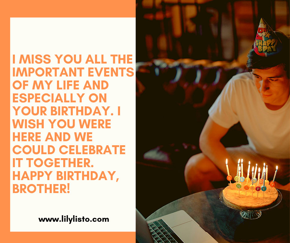 birthday message for brother long distance