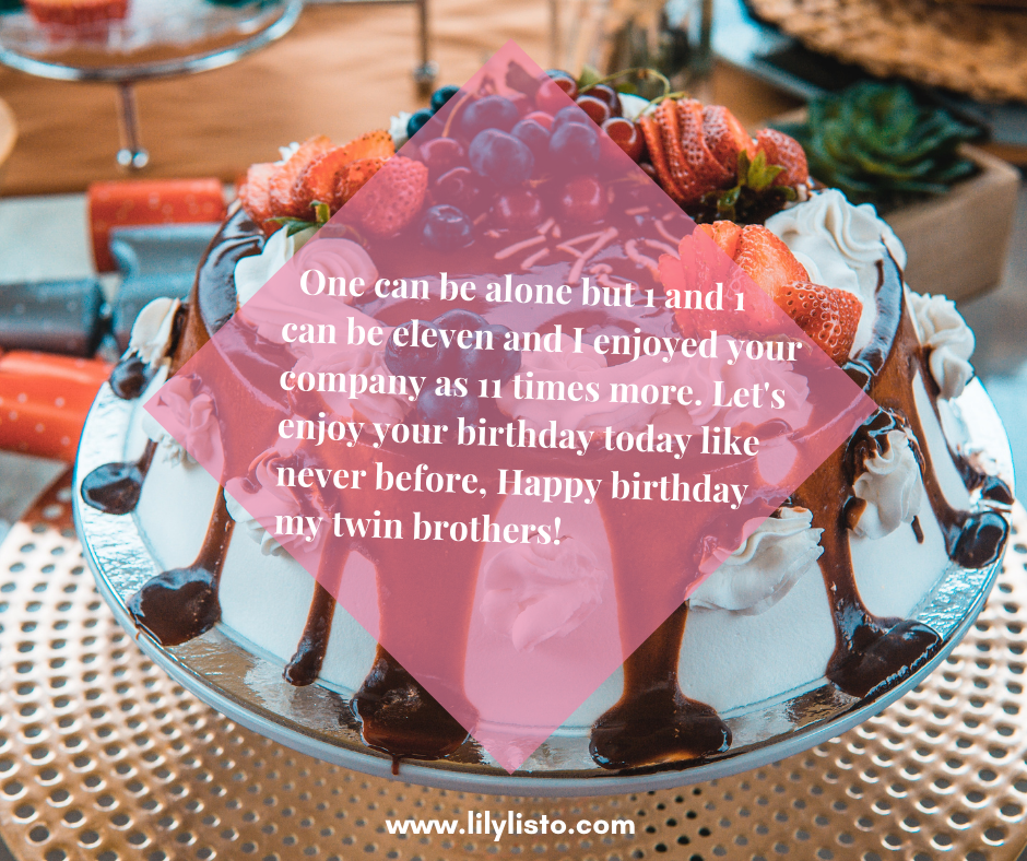 birthday message to twin brother