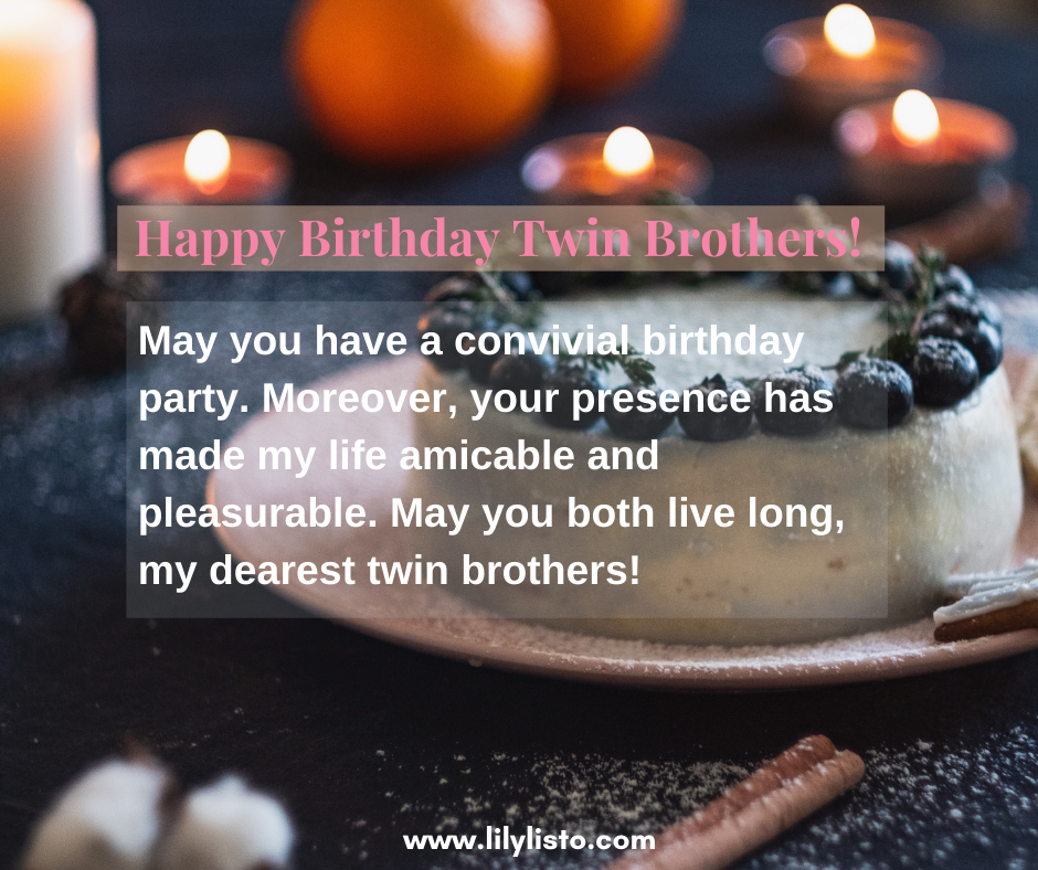 birthday quotes for twin brother
